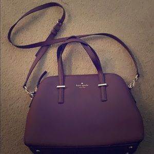 Burgundy Kate Spade bag